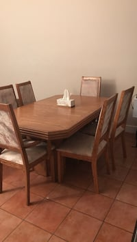 Large Dinning table + 6 chairs North Vancouver, V7K 3C9