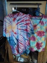 multicolored tie-dyed shirts