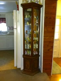 brown wooden framed glass display cabinet Knoxville, 37917
