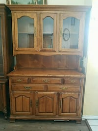 brown wooden cabinet with hutch Corona, 92880