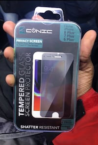 Screen protector for iPhone 6 Plus and iPhone 8 Plus and iPhone 7 Plus  45 km