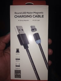 Magnetic micro USB charger
