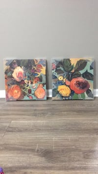 2 15x15 inch floral canvases Crofton, 21114
