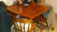Antique drop leaf table and chairs Stanton, 48888