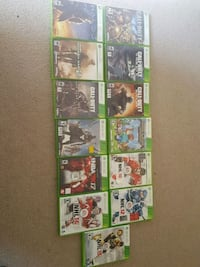 assorted Xbox 360 game cases London