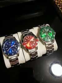 Fashion luxury Men, cristal dial, Green, red/black Montreal, H1M 2Y7