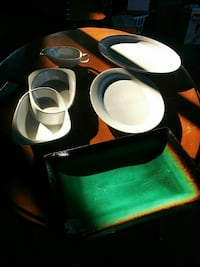 green, white, and black ceramic plates Cedar Springs, N0P 1E0