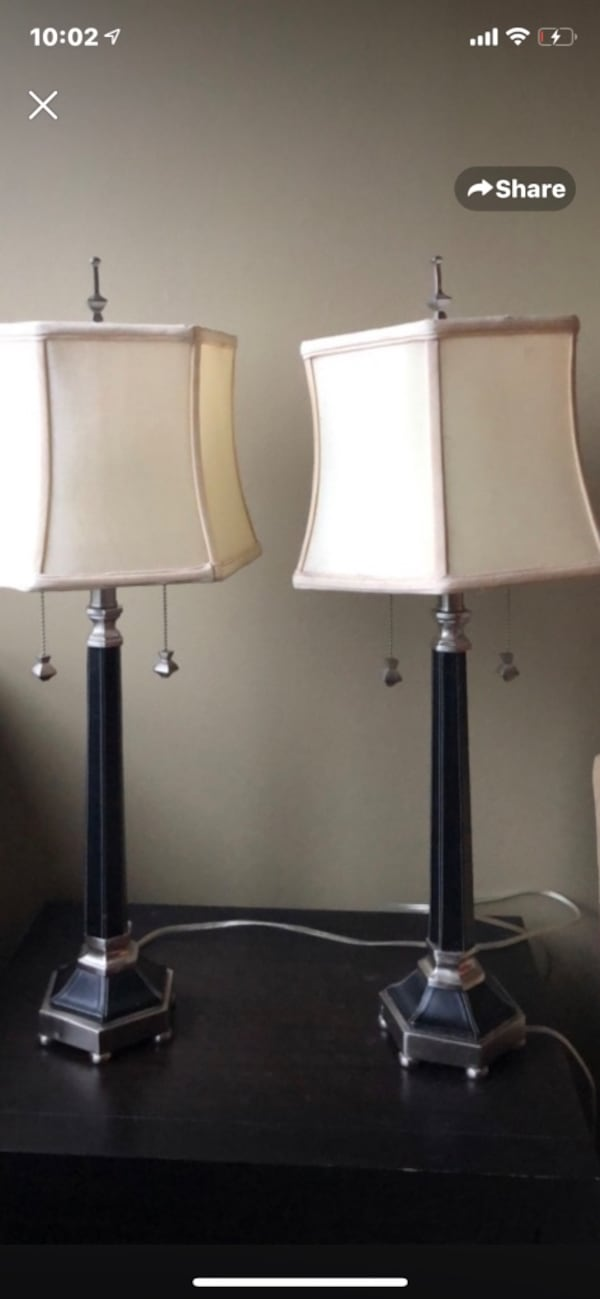 Beautiful leather lamps from Neiman Marcus 6a1afdce-a15b-401b-96b2-0438ac4b7891