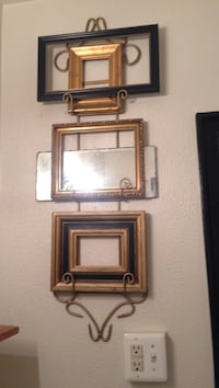 Gold and black wall photo frames