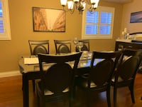 Dinning Table with 6 Chairs, Console for extra 100$. Aurora, L4G 1L8