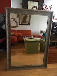 Large mirror wooden frame made into metal look Montréal