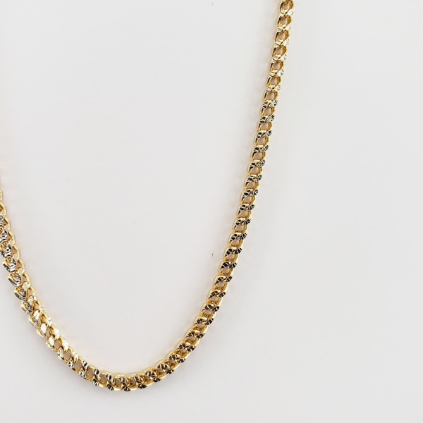 10k Yellow Gold Two-Toned Franco Chain 7