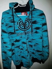 MENS SIZE SMALL ELEMENT FULL ZIP HOODIE