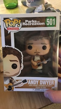 Pop! Television Parks and Recreation 501 Andy Dwyer vinyl figure box Springfield, 65807