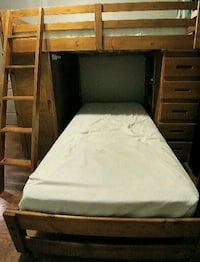 brown wooden bed frame with white mattress Cambridge, N1T 1H1