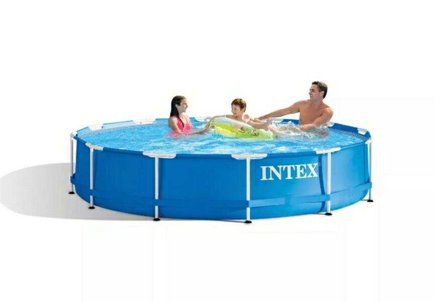 """Intex 12' x 30"""" Metal Frame Above-Ground with Filter and Pump ac5997aa-33c7-4d77-99ed-bd720274cb74"""