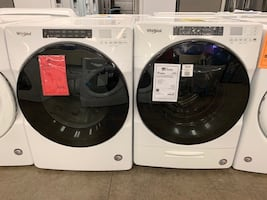 TAKE HOME FOR $40 DOWN! Whirlpool Washer Electric Dryer Set Front Load White #2718