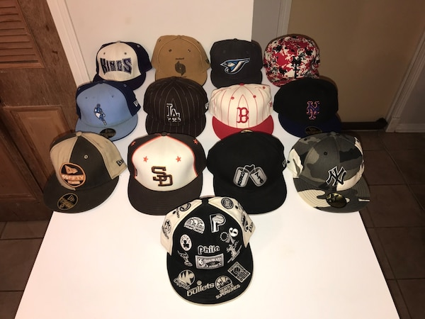 495508ece0c Begagnad New Era 59Fifty fitted caps  hats sizes 7-1 2 and 7-5 8 till salu  i New York - letgo