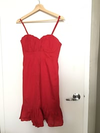 women's red spaghetti strap dress Toronto, M5B