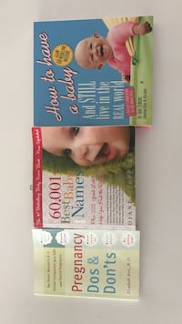 Three guide books for pregnancy/parenting