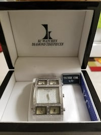 square silver analog watch with silver strap with box Gaithersburg, 20879