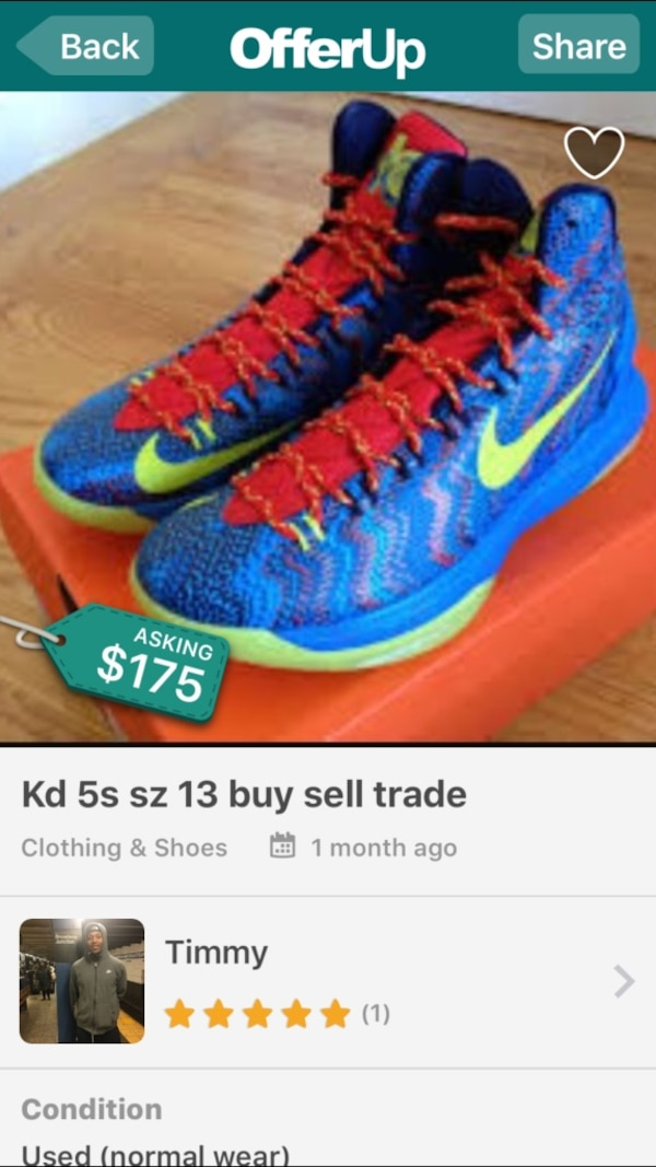 9d86542f0416 Eladó használt blue red and green Nike Kevin Durant basketball shoes ...
