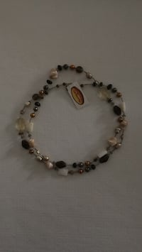 Semi Precious and Glass Bead Necklace Vaughan