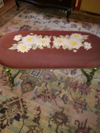 Beautiful antique tapestry bench