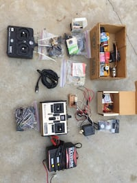 Rc hobby transmitters servos and misc items