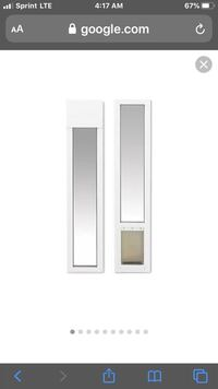 Sliding glass door insert pet door