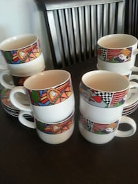 multicolored cup and saucer set Edmonton, T5B 4V2