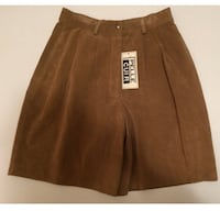VINTAGE with tags PELLE CO. Tan Suede Shorts - Retail: $300 Toronto, M2J 1Z1