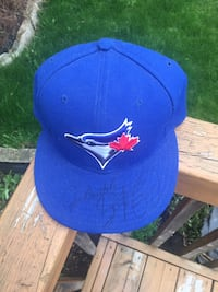 Jays hat signed by jose bautista