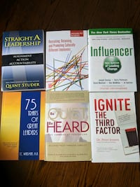 Various books on various subjects