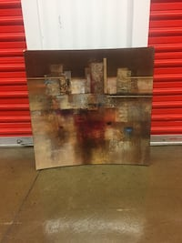 Brown and black abstract painting 56 km