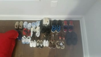 Baby boy shoes and runners. Different sizes