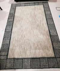 black and white area rug Frederick