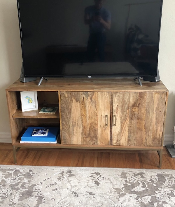 new arrival cca8f e7907 Gray Wayfair TV Console / Stand for TV's up to 55