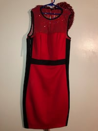 women's red and black sleeveless dress Manassas Park, 20111