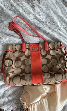 Coach monogram purse