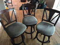 Solid Wood Barstool Chairs (3) Columbia, 21044