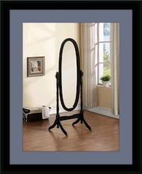Black swivel oval mirror Fairfax