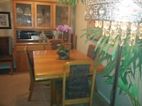 Dining set & coffee table. Coquitlam