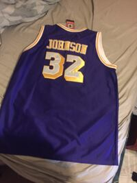 Blue and yellow lakers 32 magic jersey real deal Decatur