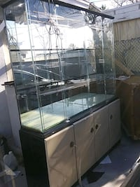 Display cabinet with lights and cabinets