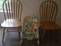 two brown wooden windsor chairs 56 km