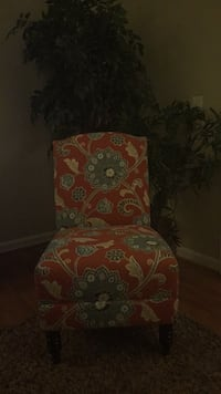 Coral and blue floral accent chair Gaithersburg, 20879