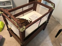 Arm's Reach Concepts Clear-Vue Cocoa/Fern Cosleeper/Bassinet with 3 sheets 23 mi