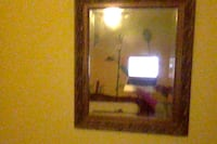 rectangular brown wooden framed mirror CALGARY