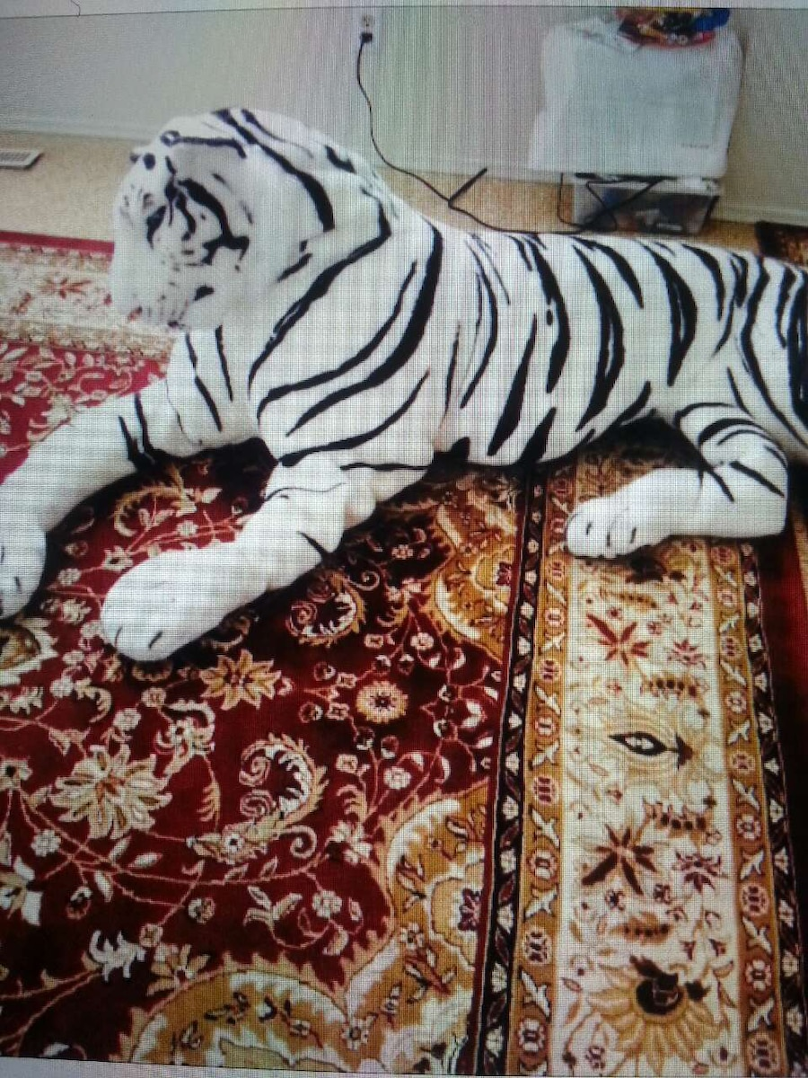 white tiger plush toy - Chestermere